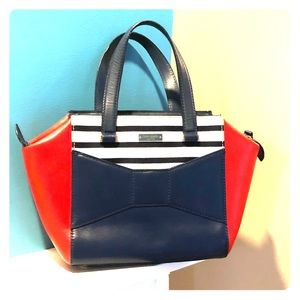 Kate Spade Park Avenue Beau Bag in French Navy